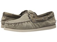 Sperry A O 2 Eye Wedge Canvas Olive Men's Lace Up Casual Shoes