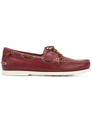 Polo Ralph Lauren Lace Detail Loafers Red