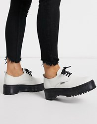 Bronx Leather Chunky Lace Up Shoe White