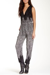 Twelfth St. By Cynthia Vincent Criss Cross Silk Jumpsuit Black
