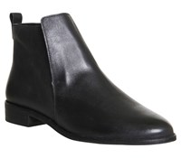 Office Apollo Casual Flat Boots Black