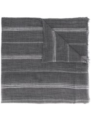 Brunello Cucinelli Striped Scarf Grey