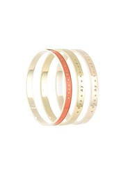 See By Chloa Set Of Three Bangles Yellow And Orange