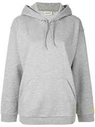 Carhartt Embroidered Logo Hoodie Grey