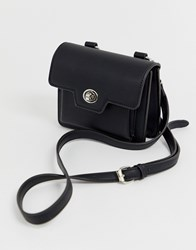 Melie Bianco Faux Leather Belt Bag Black