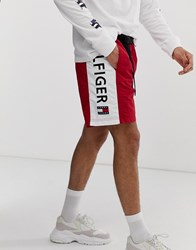 Tommy Jeans Summer Heritage Capsule Shorts In Red With Side Logo Panel