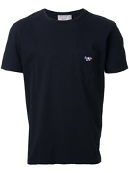 Maison Kitsune Tricolour Fox T Shirt Black