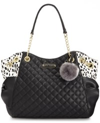 Betsey Johnson Bow Tote Black Spot