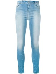 Twin Set Faded Skinny Jeans Blue