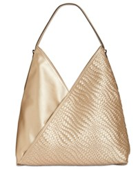 7830939cb4c Inc International Concepts Blakke Woven Large Hobo Created For Macy s Gold