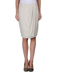 Les Copains Knee Length Skirts Light Grey