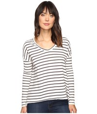 Billabong Many Ways Long Sleeve Tee Black White Women's T Shirt