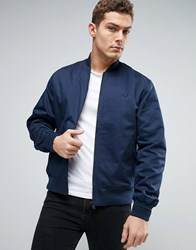 Fred Perry Bomber Jacket Tramline Tipped In Navy Dark Night