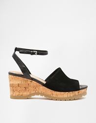 Aldo Sevenadia Wedge Heeled Sandals Blacksuede