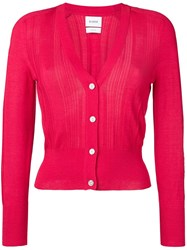 Barrie Classic Slim Fit Cardigan Pink