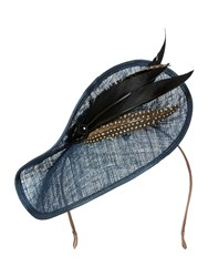 Biba Vivien Sheriff Claudia Jewel Feather Fascinator Navy