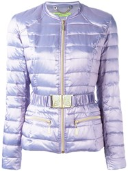 Versace Jeans Padded Jacket Pink Purple