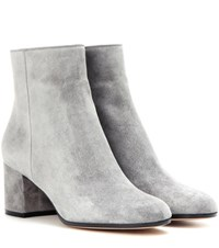 Gianvito Rossi Margaux Mid Suede Ankle Boots Grey