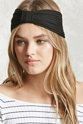 Forever 21 Ribbed Bow Front Headwrap Black
