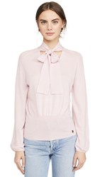 Temperley London Cashmere Chime Knit Top Royal Pink