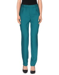 Silvian Heach Trousers Casual Trousers Women Emerald Green