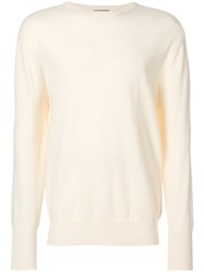 N.Peal Oxford Round Neck Sweatshirt Yellow And Orange