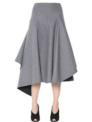 Sportmax Asymmetric Felted Wool Skirt