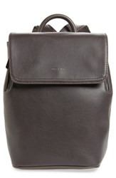 Matt And Nat Mini Fabi Faux Leather Backpack Grey Charcoal