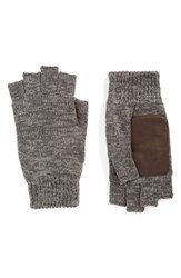 Bickley Mitchell Men's Fingerless Gloves Dark Grey Twist