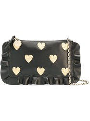 Red Valentino Heart Clutch Bag Black