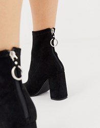 Pimkie Pointed Skin Boots In Black