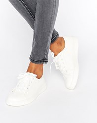 New Look Lace Up Trainer White
