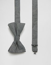 Original Penguin Bow Tie Grey Chambray Grey