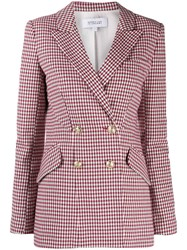 Derek Lam 10 Crosby Rodeo Double Breasted Gingham Twill Blazer 60