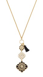 Kate Spade Moroccan Tile Toggle Pendant Necklace Black