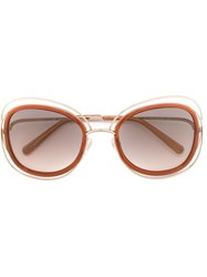Chloe 'Carlina' Sunglasses Yellow And Orange