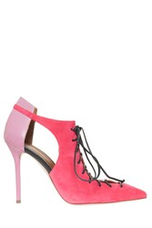 Malone Souliers Suede Lace Up Heels Pink