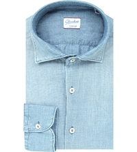 Slowear Single Cuff Chambray Shirt Lt Blue