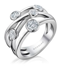 Boodles Raindance Classic Anniversary Ring Silver