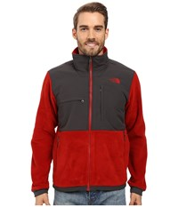 The North Face Denali 2 Jacket Recycled Cardinal Red Asphalt Grey Men's Coat Black
