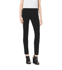 Michael Kors Stretch Pebble Crepe Side Zip Pants Black