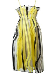 Roksanda Ilincic Roksanda Sheer Embroidered Party Dress Yellow And Orange