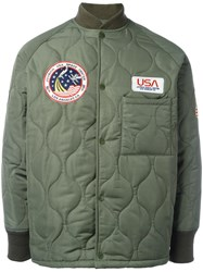 Joyrich Multi Patch Padded Jacket Green