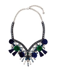 Shourouk Talia Necklace Blue