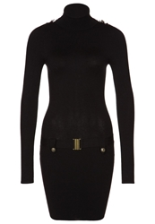 Morgan Rippo Jumper Dress Black