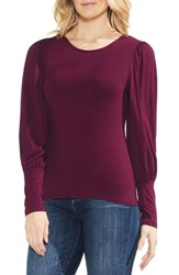 Vince Camuto Long Puff Sleeve Top Manor Red