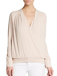 Bcbgmaxazria Leah Surplice Wrap Top Light Nude