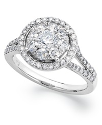 Prestige Unity Circular Diamond Engagement Ring In 14K White Gold 1 1 4 Ct. T.W.
