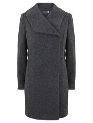 Mint Velvet Boucle Coat Grey
