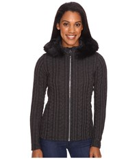 Obermeyer Sadie Cable Knit Jacket Black Women's Coat